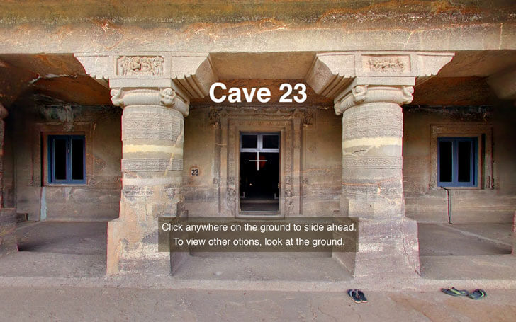 virtual reality app on ajanta cave 23