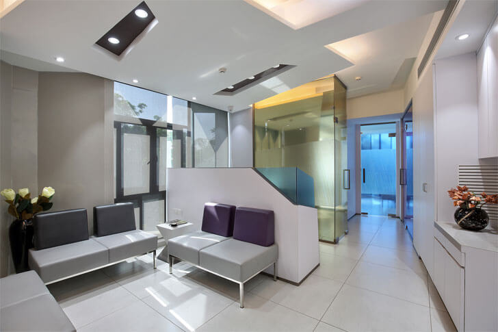 reception area in office