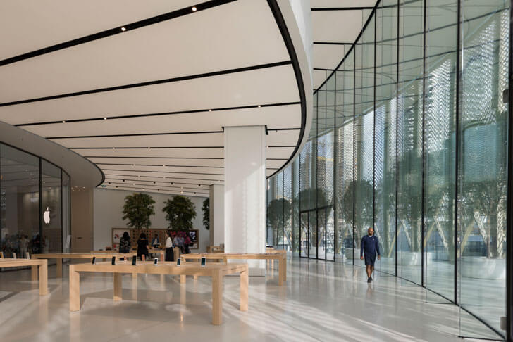"""interiors Foster+Partners Apple Dubai Mall indiaartndesign"""