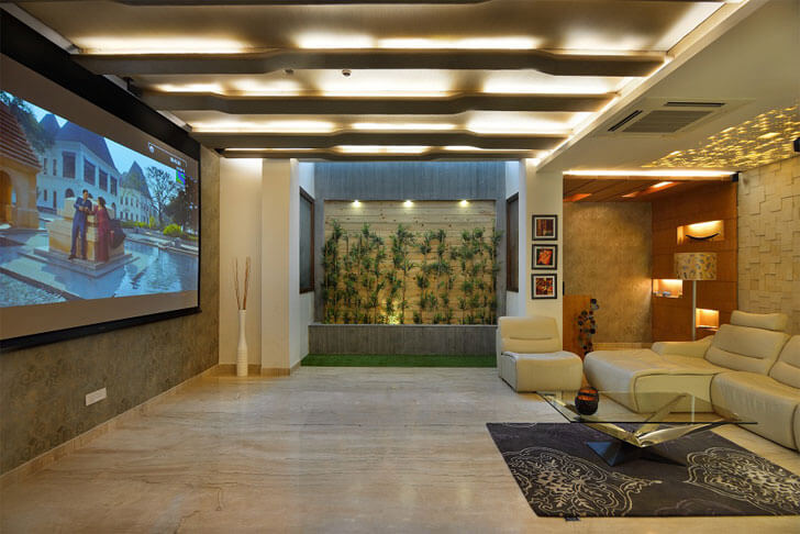 """home theatre kapil agarwal architects indiaartndesign"""