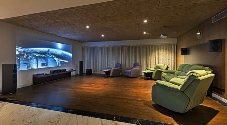 """home theatre purple ink studio indiaartndesign"""