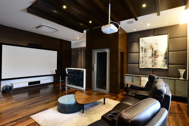 """hometheatre with bar harish lakhani indiaartndesign"""