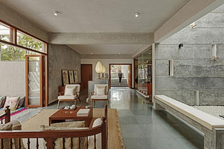 """guest lounge Shreyas Retreat Purple Ink Studio indiaartndesign"""