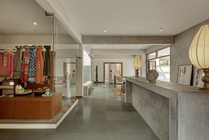 """lobby Shreyas Retreat Purple Ink Studio indiaartndesign"""
