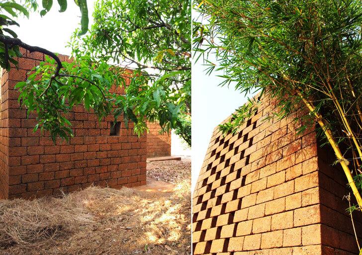 """laterite stone walls Studio unTAG indiaartndesign"""