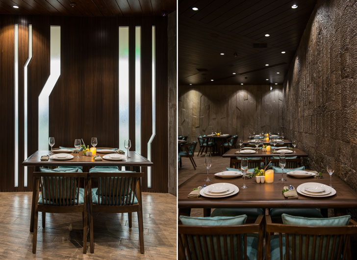 """play of light 3seventy restaurant neovana design indiaartndesign"""