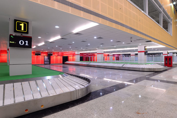 """conveyor belts Vadodara airport creative group indiaartndesign"""