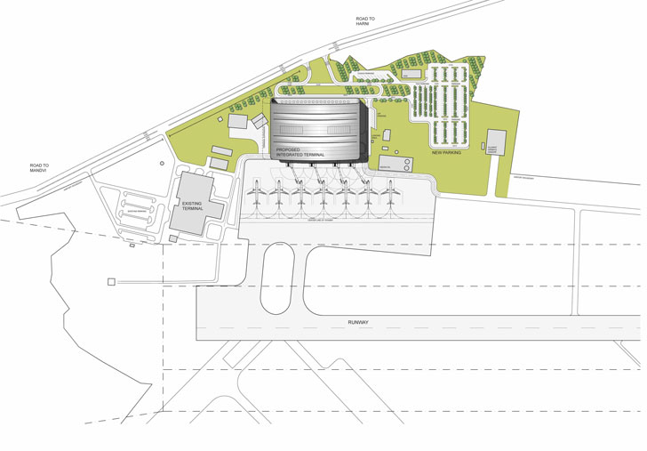 """site plan Vadodara airport creative group indiaartndesign"""