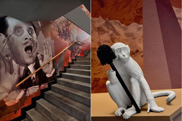 """""""staircase white monkey ippolito fleitz indiaartndesign"""""""
