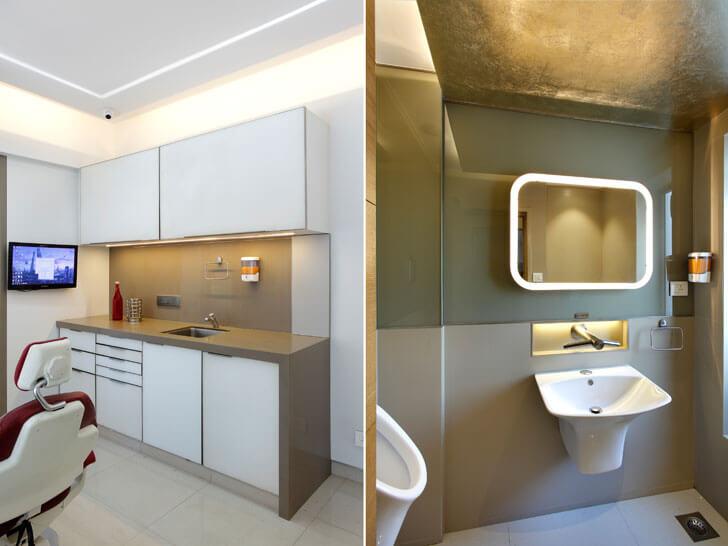 """cabin and washroom dentist clinic mahesh punjabi indiaartndesign"""