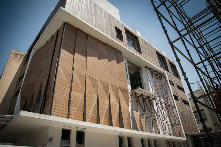"""industrial building Parametric Facade Rat Lab indiaartndesign"""