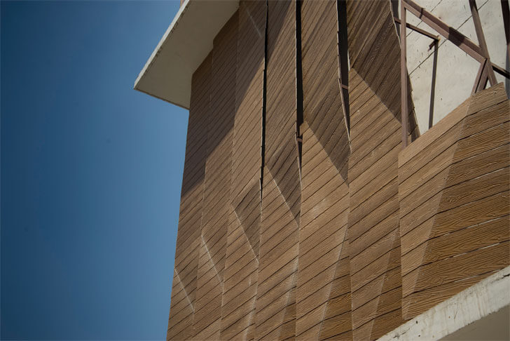 """industrial building Parametric Facade detail Rat Lab indiaartndesign"""
