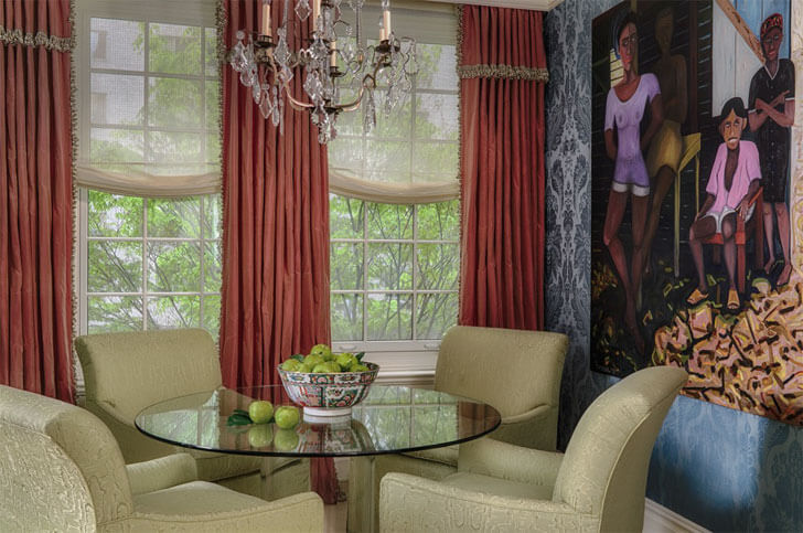 """dining area Solis Betancourt and Sherrill indiaartndesign"""