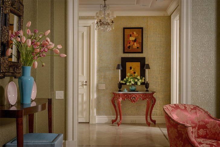 """entrance foyer Solis Betancourt and Sherrill indiaartndesign"""