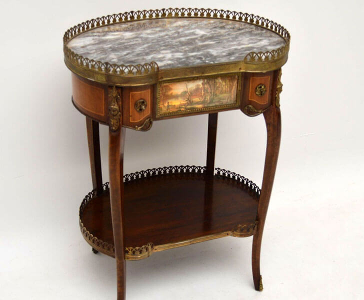 """antique french marble side table indiaartndesign"""