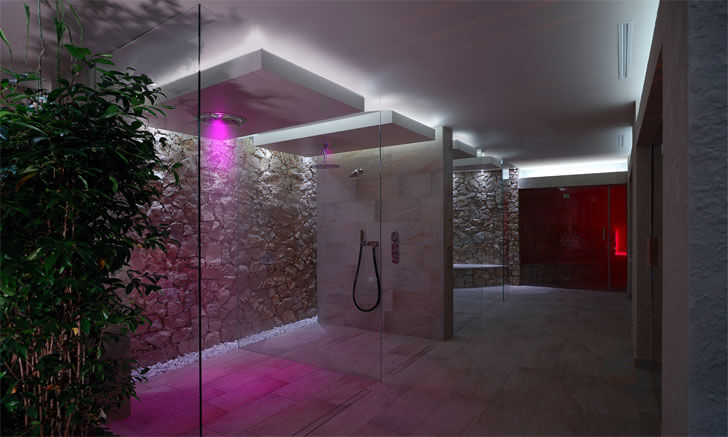 """colour changing light spa design alberto apostoli indiaartndesign"""