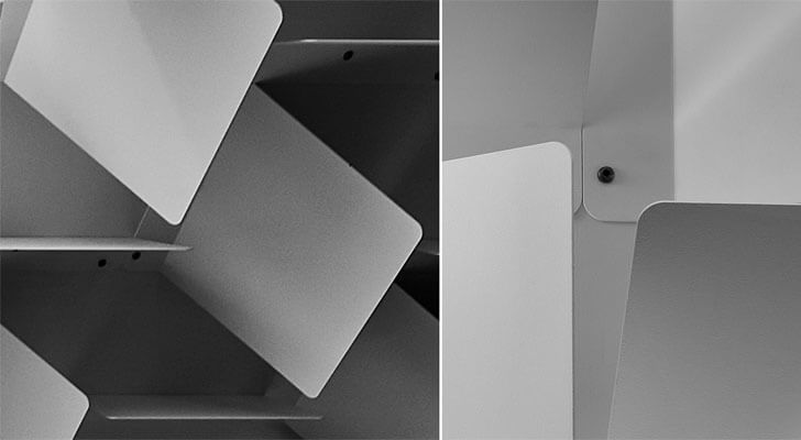 """metal plates detail headfoneshop Batay Csorba Architects indiaartndesign"""