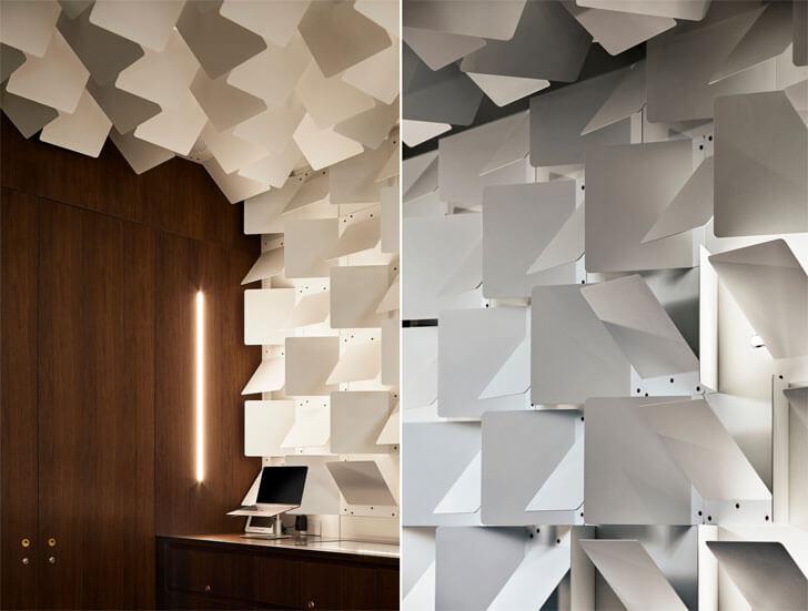 """metal plates headfoneshop Batay Csorba Architects indiaartndesign"""