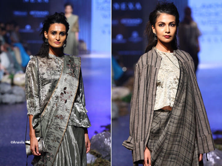 """anavila shades of grey fashion indiaartndesign"""