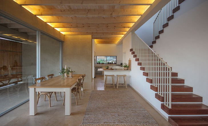 """staircase home in galilee Golany Architects indiaartndesign"""