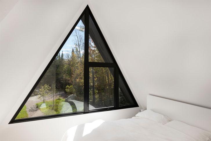 """A frame home triangular window jean verville indiaartndesign"""