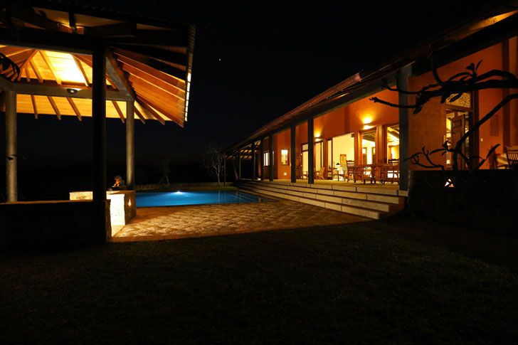 """front verandah at night anjalendran indiaartndesign"""