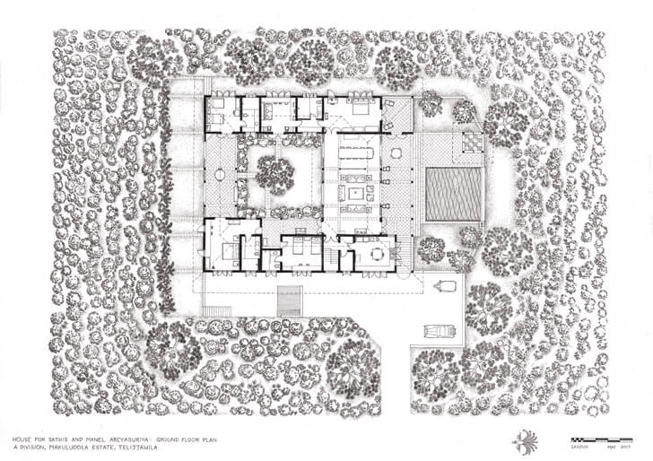 """ground floor plan anjalendran indiaartndesign"""