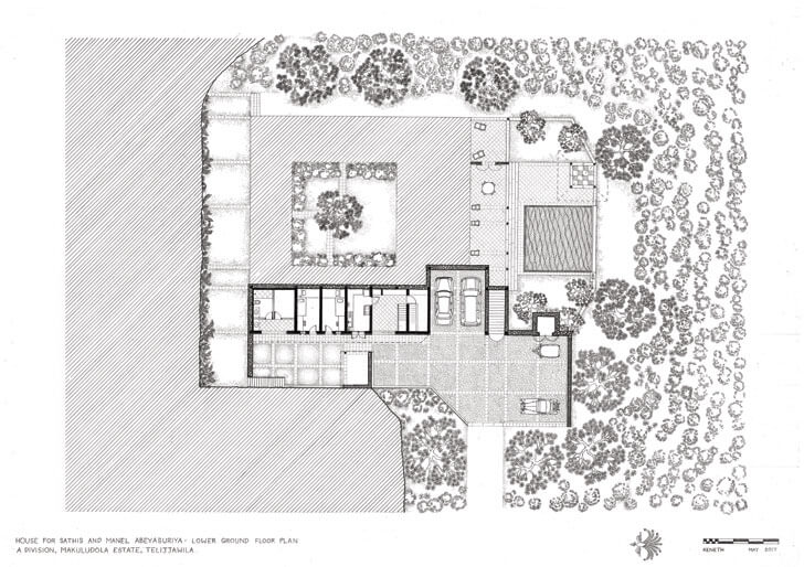 """lower ground floor plan anjalendran indiaartndesign"""