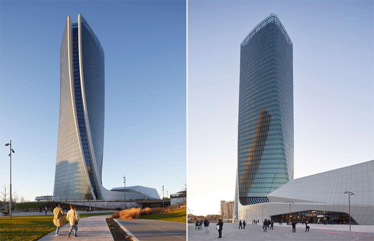 """city life shopping district oriented towards duomo milan zaha hadid indiaartndesign"""