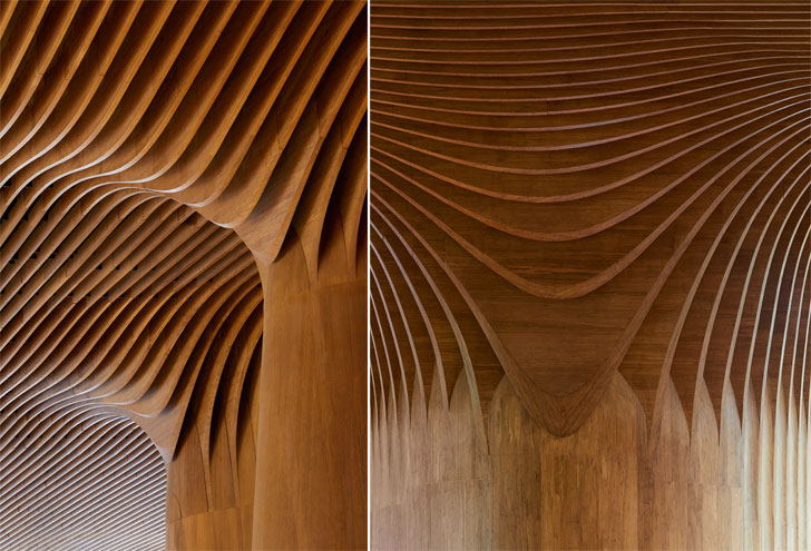 """formal geometry in bamboo city life shopping district zaha hadid indiaartndesign"""