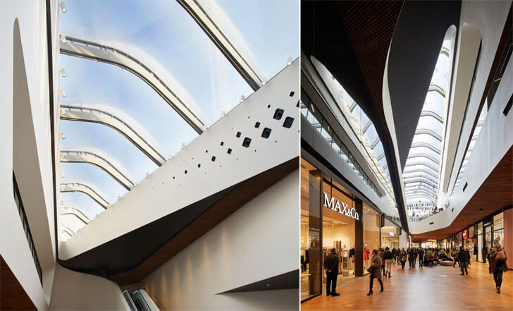 """skylight detail city life shopping district zaha hadid indiaartndesign"""