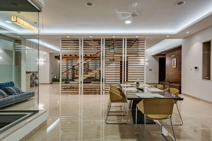 """dining yuvraj res cubism architects indiaartndesign"""