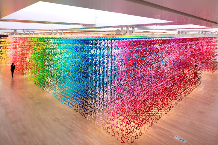 """100 colours national art centre tokyo forest of numbers emmanuelle moureaux indiaartndesign"""