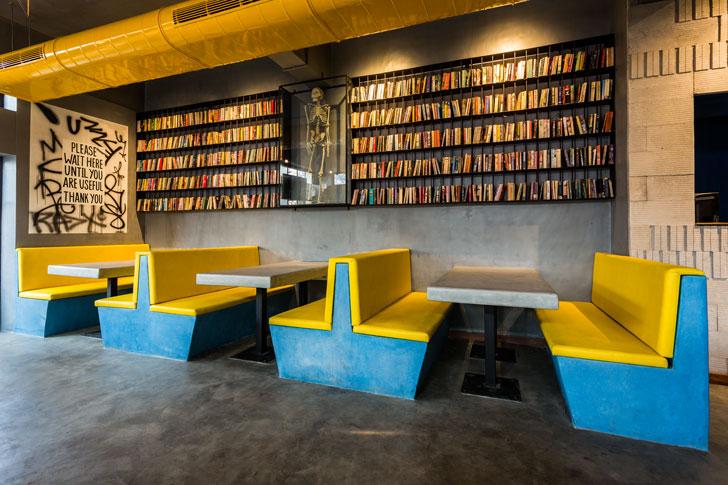 """""""library wall TBSE Juhu shabnam gupta indiaartndesign"""""""