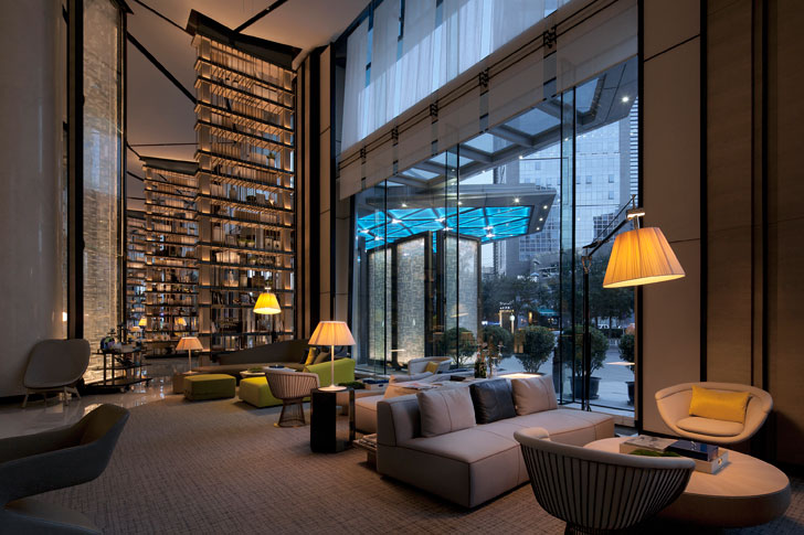 """Beijing Hotel lobby GD lighting design indiaartndesign"""