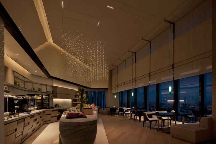 """Executive Lounge2 Beijing Hotel GD lighting design indiaartndesign"""