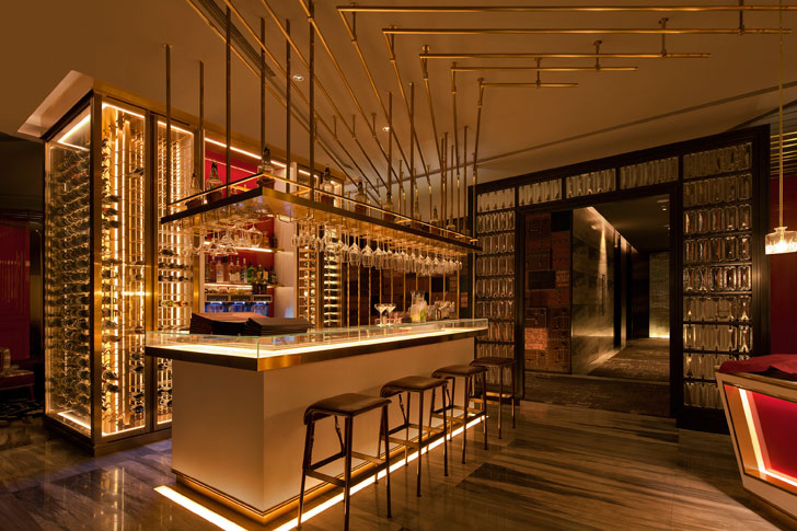 """Spanish Restaurant Beijing Hotel GD lighting design indiaartndesign"""