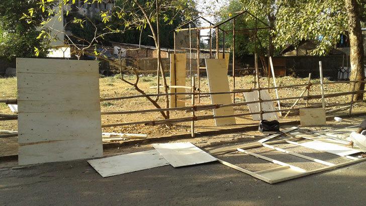"""""""metal framework coconut house jayneel trivedi indiaartndesign"""""""