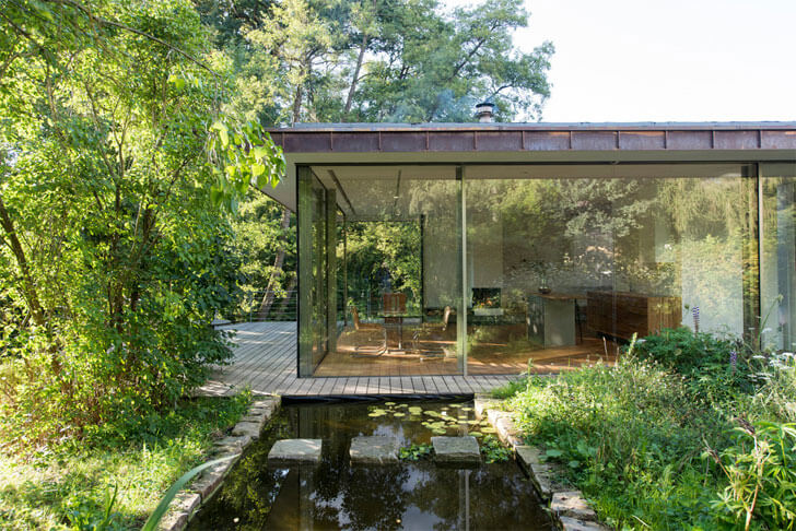 """glass walls House-rheder Falkenberg Innenarchitektur indiaartndesign"""