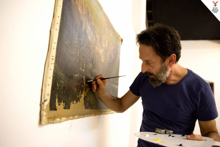 """Daniele Galliano at work kochi muziris 2016 indiaartndesign"""