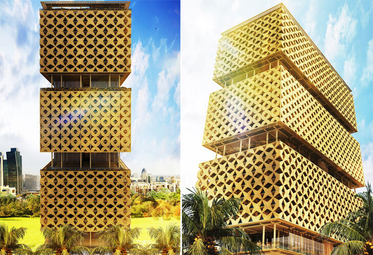 """Hermann Kamte Architects lagos wooden tower indiaartndesign"""