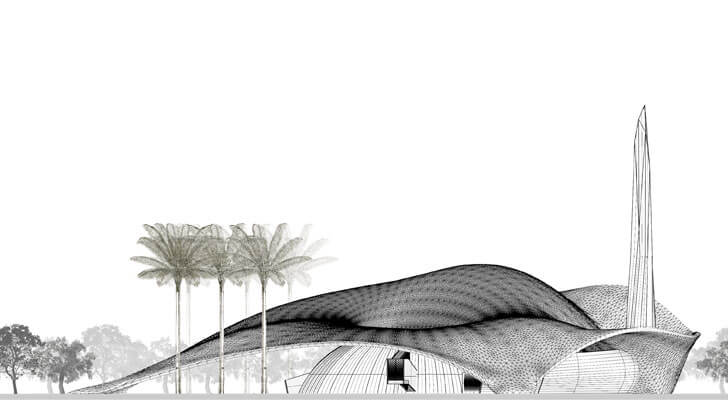 """facade mahmud mosque PB+CO indiaartndesign"""