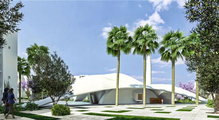 """parametric roof mahmud mosque PB+CO indiaartndesign"""