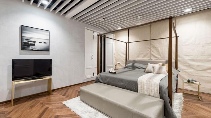 """minimalist bedroom cms praxis indiaartndesign"""
