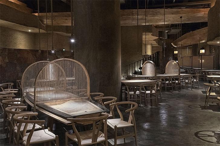 """meandering interiors pu zao restaurant Yiduan Shanghai Interior Design indiaartndesign"""