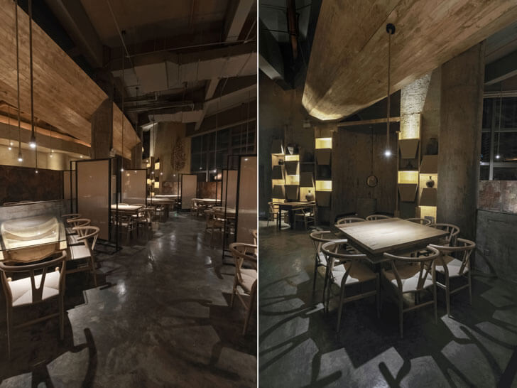 """neutral envelope pu zao restaurant Yiduan Shanghai Interior Design indiaartndesign"""