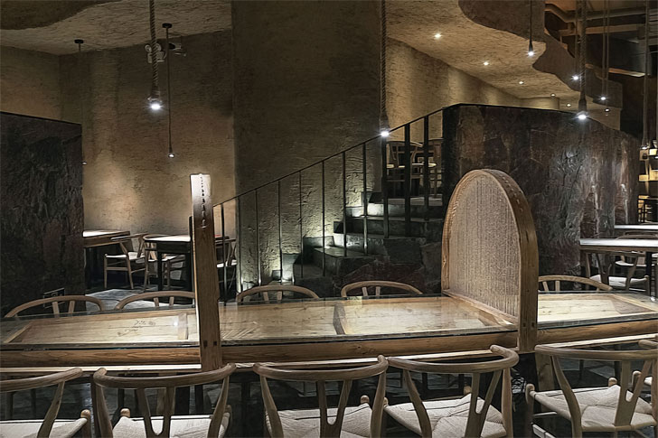 """play of levels pu zao restaurant Yiduan Shanghai Interior Design indiaartndesign"""