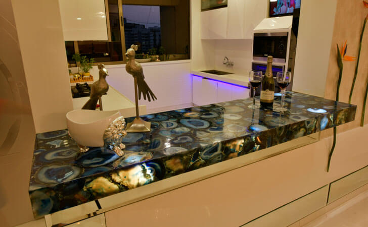 """blue stone countertop SSA design studio indiaartndesign"""