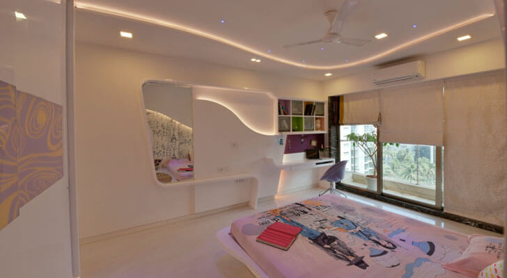 """free flowing forms bedroom SSA design studio indiaartndesign"""