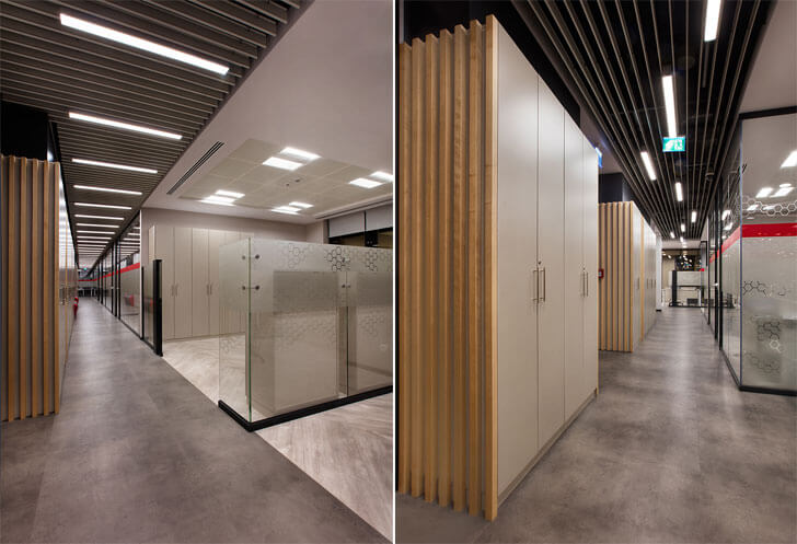 """corridor Recordati office Boytorun architects indiaartndesign"""